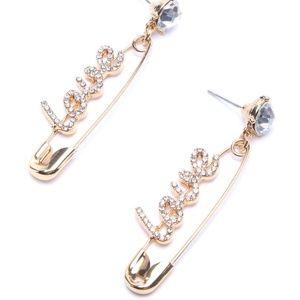 Fashion Nova LOVE Earrings